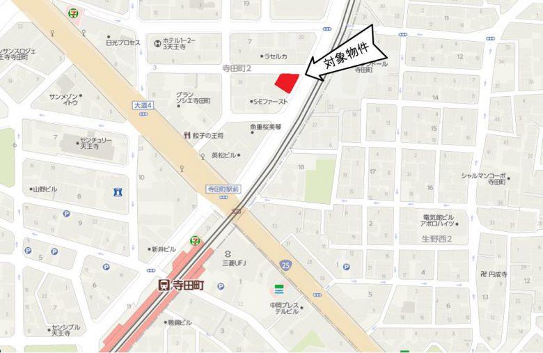 JR大阪環状線寺田町駅すぐ!(地図)