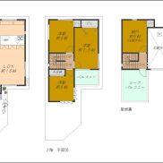 3SLDK、2階建(屋根裏付)(間取)
