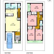 2階建4LDKのプラン例です。他お客様のご要望に添ったプランのご提案をいたします。(間取)