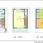 3階建 2LDK 車庫付(間取)