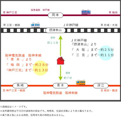 3路線利用可能(地図)