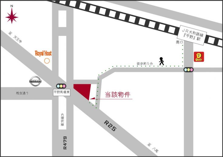 大阪メトロ谷町線 平野駅からもアクセス可(地図)
