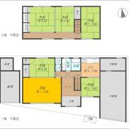 2階建6DK、作業場・倉庫付き(間取)